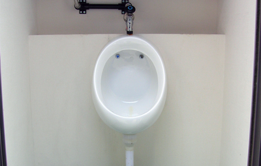 男性用も清潔で使いやすい