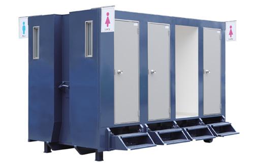 衛生面の課題、まずはトイレの確保から。 仮設トイレコンテナ