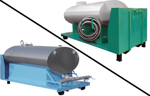 緊急時の水源、汚水処理貯蔵用として。 タンク型コンテナ