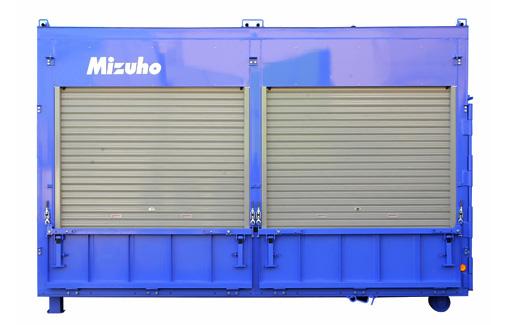 格納状態 シャッターや扉を開くだけで簡単設置!