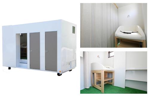 4t用おむつ交換台付きトイレ(2人仕様)