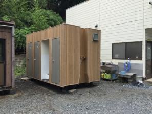 自社敷地内にて4t3Sトイレを導入